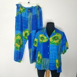 Jams World Outfit Short Sleeve Top Pants Brooks M